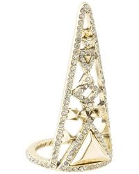 House of Harlow 1960 - Tres Tri Finger Ring - Lyst