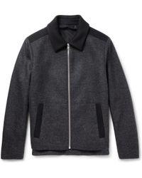 Balenciaga Panelled Wool Bomber Jacket - Lyst