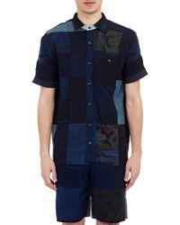 Longjourney   Patchwork Camp Shirt   Lyst
