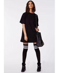 Missguided - Donata Striped Knee High Socks - Lyst