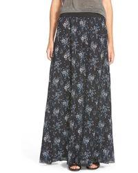 Hinge - Floral Print Maxi Skirt - Lyst