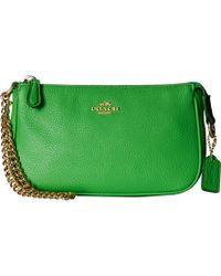 Coach Polished Pebble Nolita 19 green - Lyst