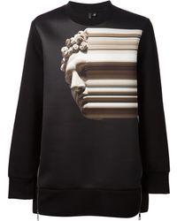 Neil Barrett Abstract Bust Print Sweatshirt - Lyst