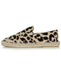Topshop Kitten Leopard Espadrilles - Lyst