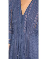Rebecca Taylor - Embroidered Dress - Amethyst Shadow - Lyst