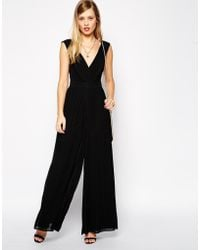 Asos 70'S Jumpsuit With Pleats - Lyst