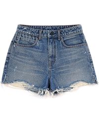 Alexander Wang | Bite Cut-off Denim Shorts | Lyst