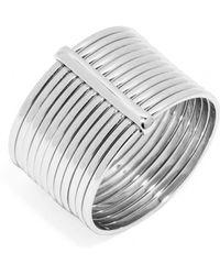 BaubleBar Slinky Stack Ring-Silver - Lyst