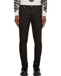 Saint Laurent Black Classic Skinny Jeans - Lyst