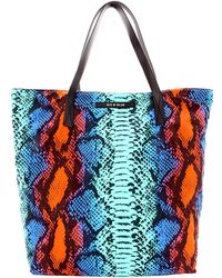 House of Holland Tote Amaze Blue Snake & Purple Viper - Lyst