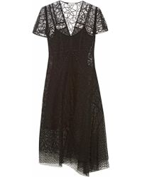 Nina Ricci Floral-Lace Layered Dress - Lyst
