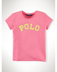 "Ralph Lauren ""Polo"" Cotton Tee pink - Lyst"