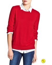 Banana Republic Factory Popcorn Sweater  Pure Red - Lyst