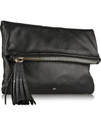 Anya Hindmarch Huxley Fold-over Leather Clutch - Lyst