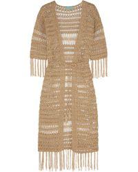 Melissa Odabash | Naomi Metallic Crocheted Robe | Lyst