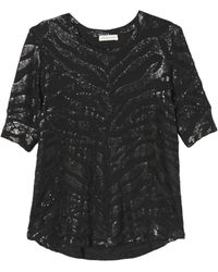 Rebecca Taylor Tiger Sequin Top - Lyst