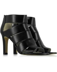 Michael Kors | Gisele Black Leather Open Toe Shoe | Lyst