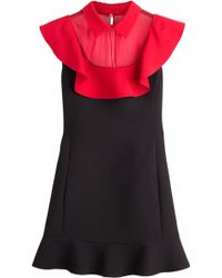 Valentino Crepe Couture Georgette Dress - Lyst
