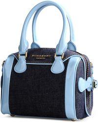 Burberry Prorsum Medium Fabric Bag blue - Lyst