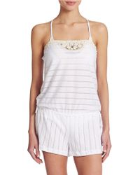 Lucky Brand - Lace Romper - Lyst
