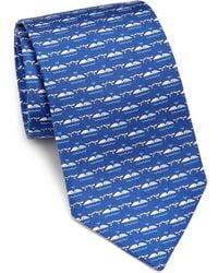 Ferragamo | Repeat Whale Silk Tie | Lyst