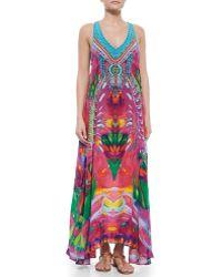 Camilla V-Neck Racerback Maxi Dress - Lyst