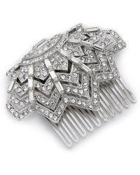 Ben-Amun - Crystal Web Hair Comb - Clear - Lyst