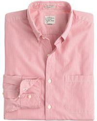 J.Crew Secret Wash Shirt In Grape Fine Stripe - Lyst