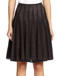 Akris Punto Lace Flared Skirt - Lyst