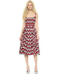 DSquared² Tailored Pleat Dress - Multi - Lyst
