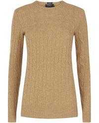 Polo Ralph Lauren Julianna Cable Knit Cashmere Jumper - Lyst