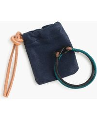 J.Crew - Caputo & Co. Two-tone Leather Nylon Bracelet - Lyst