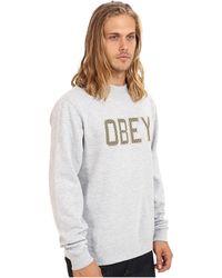 Obey Belton Crew Neck Fleece - Lyst