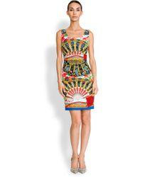 Dolce & Gabbana Charmeuse Foulard-Print Sheath multicolor - Lyst