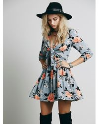 Free People Tied Up in Love Dress - Lyst