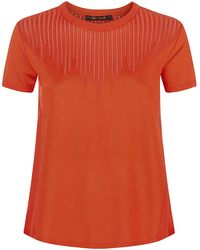 Roberto Cavalli Knitted Silk T-Shirt - Lyst