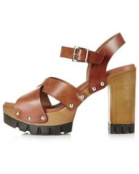 Topshop Lyrical Wooden Platforms - Lyst