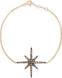 Christina Debs - Starlight 18ct Pink-gold And Diamond Bracelet - Lyst