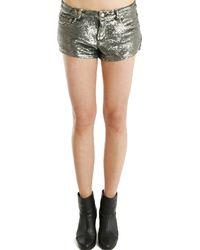 IRO Ernest Sequin Shorts silver - Lyst