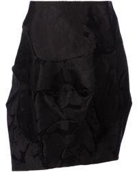 Comme Des Garçons Leaf Pattern Voluminous Skirt - Lyst