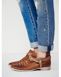 Free People Crusader Ankle Boot - Lyst