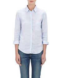 Barneys New York Chambray Shirt - Lyst