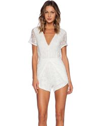 Wilde Heart - Laced Up Romper - Lyst