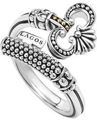 Lagos | 12mm Sterling Silver Caviar Key Ring | Lyst