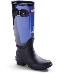 Hunter Tall Clear Leg Rain Boots - Lyst
