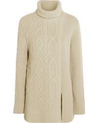 Mulberry - Aran Merino Wool and Cashmere-blend Sweater - Lyst