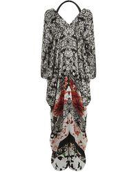 Roberto Cavalli Floral Kaftan Maxi Dress - Lyst