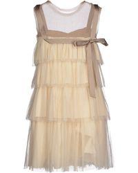 Lanvin Short Dress white - Lyst