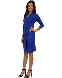 Karen Kane Cascade Wrap Dress - Lyst