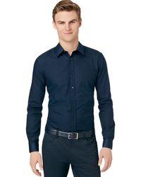 Calvin Klein Slim Fit Sport Shirt - Lyst
